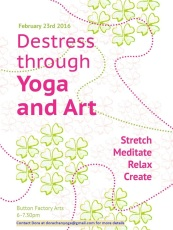 destress with Yoga and Art